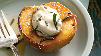 honey-roasted-peaches-lavender