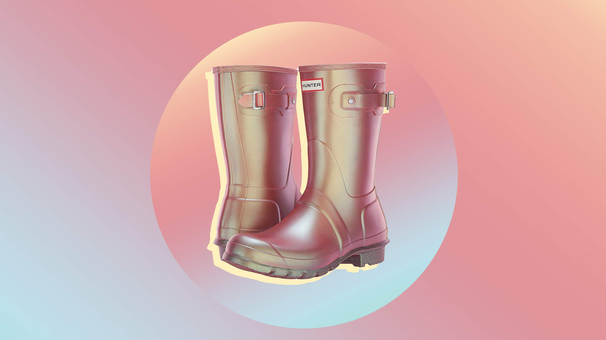 Hunter's New Pink Iridescent Rain Boots Are the Best Purchase You'll Make All Spring