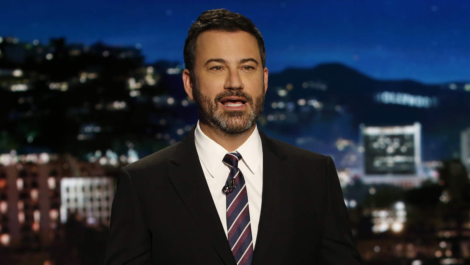 Jimmy Kimmel Holds Back Tears as He Returns to Live! with Baby Son Billy in His Arms