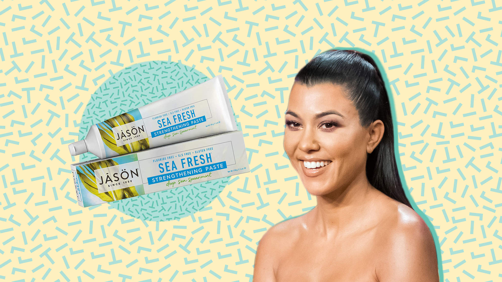 toothpaste natural woman health celebrity kourtney-kardashian teeth