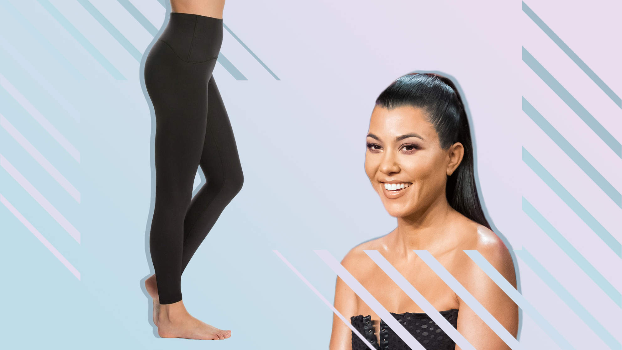 kourtney-kardashian-spanx-leggings kourtney-kardashian spanx-leggings workout gear woman health fitness
