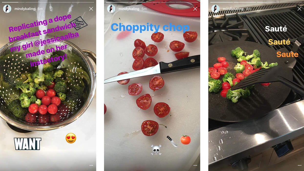 mindy-kaling-snapchat-food