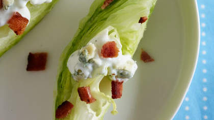 One-Bite Wedge Salad with Blue Cheese and Bacon