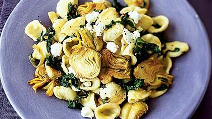 Orecchiette With Artichokes and Swiss Chard