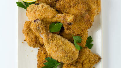 Oven-Fried Parmesan-Crusted Chicken