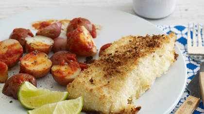 Panko-Crusted Oven- Fried  Fish