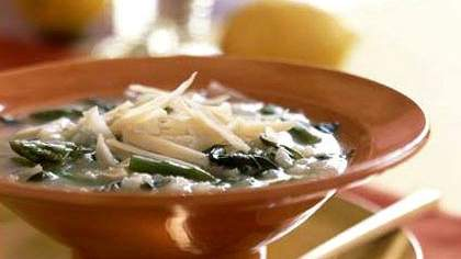 Cate's Springtime Risotto Soup