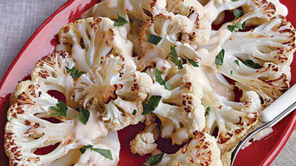 Roasted Cauliflower with Mornay Sauce