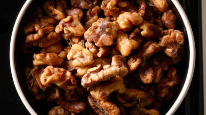 Spiced Rosemary Walnuts
