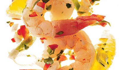 Spicy Shrimp Ceviche With Cilantro