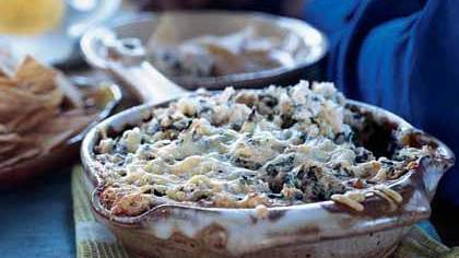 Garlicky Spinach Dip with Hearts of Palm