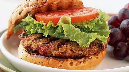 Turkey and Oat Burgers
