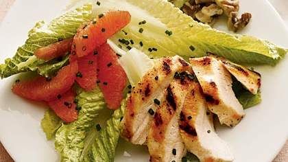 Winter Salad With Grilled Chicken, Citrus, and Walnuts