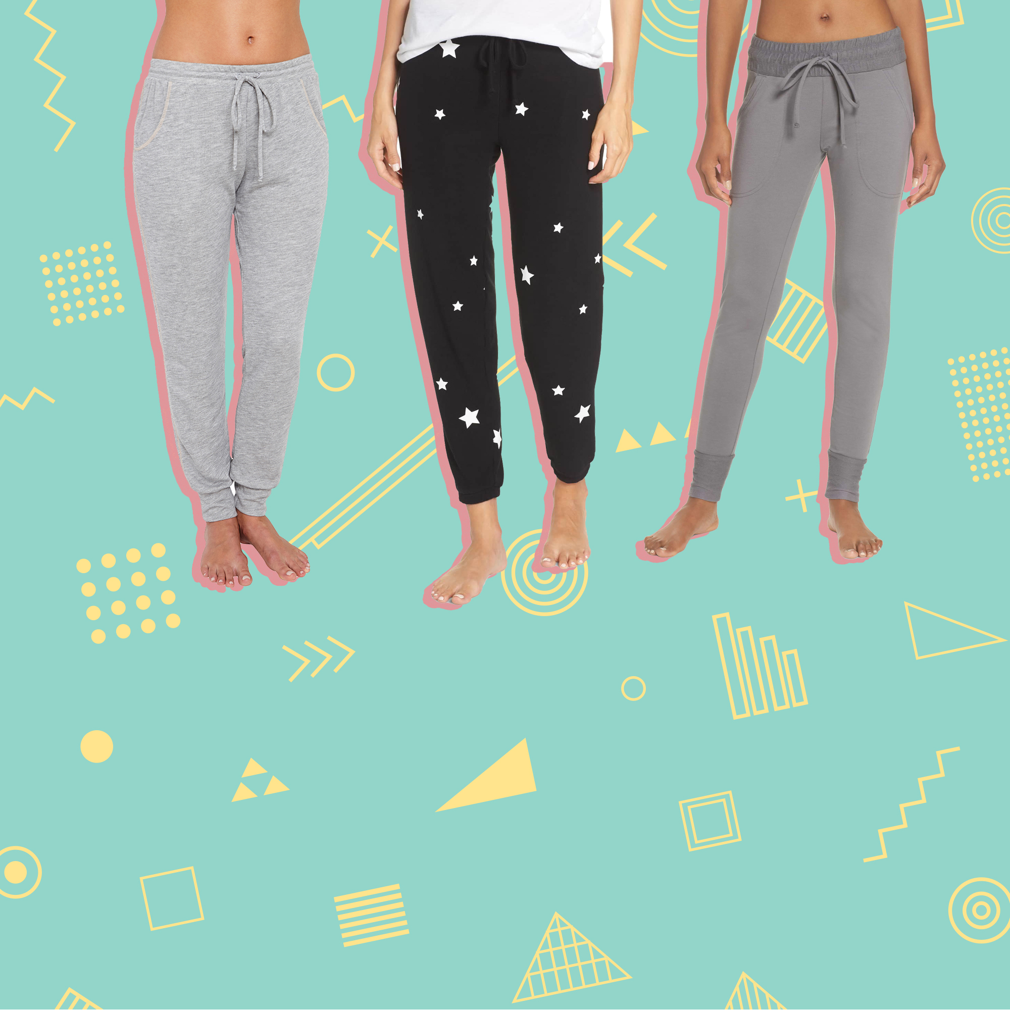 best joggers women res people movement sunny skinny sweatpants chaser multi star jogger eberjey Gabriela runner heather