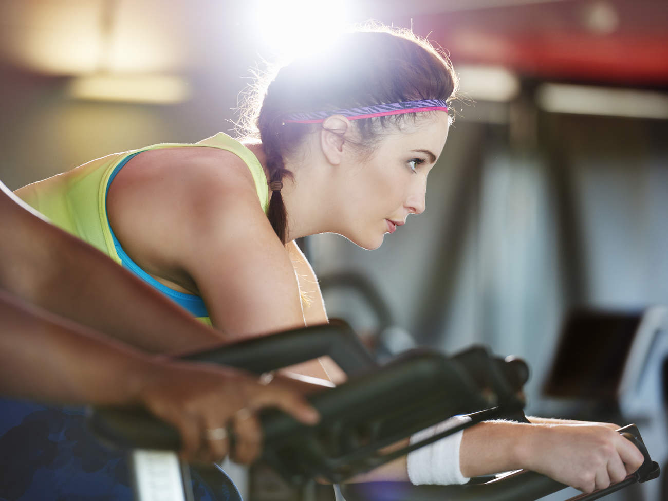 Spinning gym workout personality