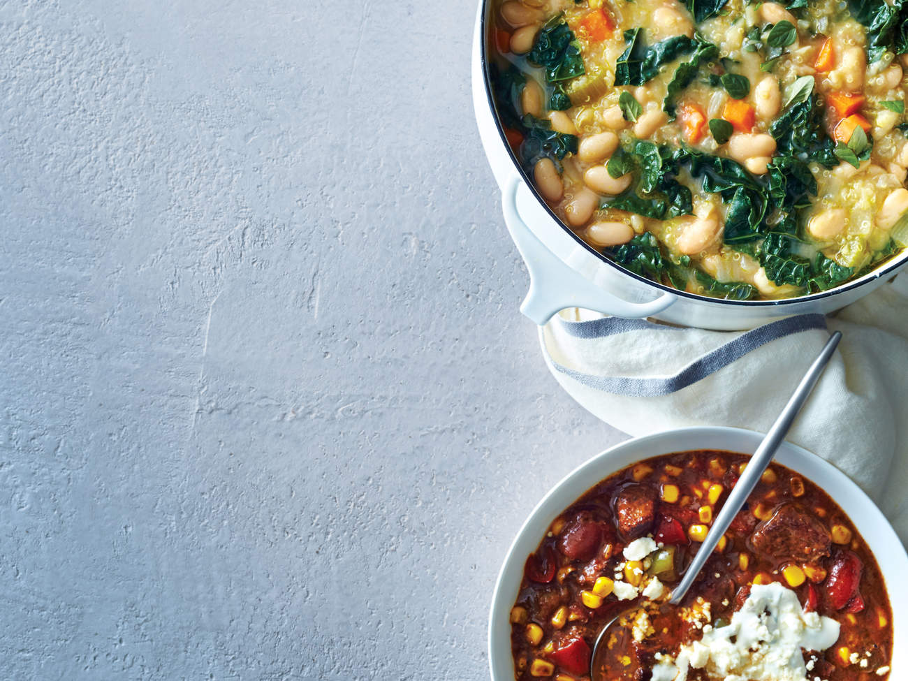 vegetarian-white-bean-chili-three-ways