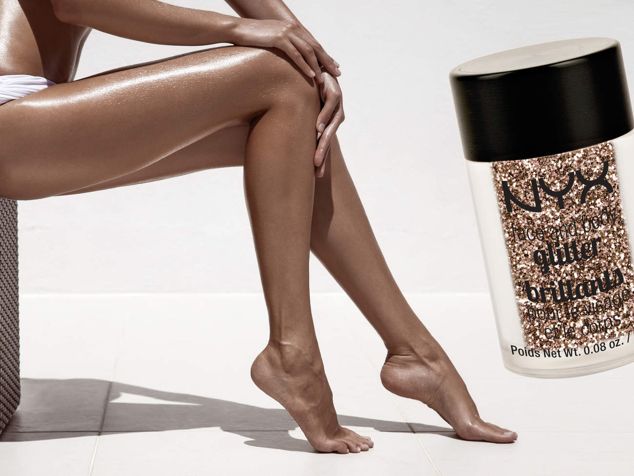 body glitter legs party prep product