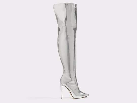 silver aldo boot tracee ellis ross