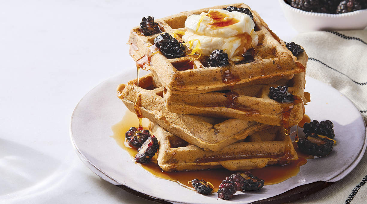 hazelnut-waffles-brunch-on