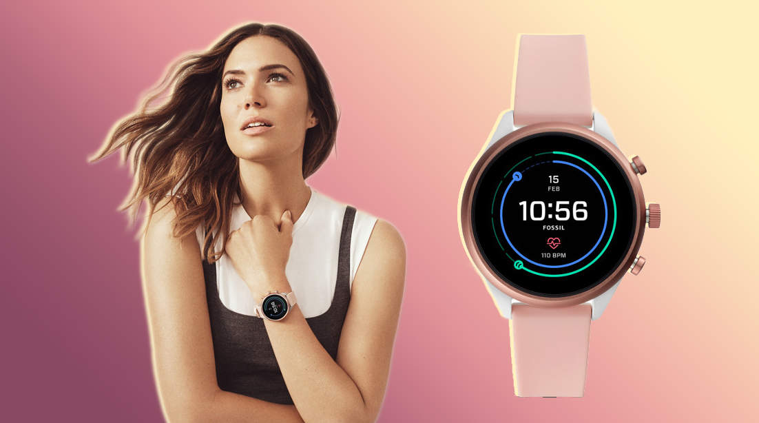fitness-tracker technology wearable-technology fitness exercise calories fossil product ecomerce shopping woman health