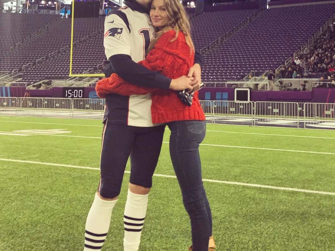 Gisele and Tom Brady