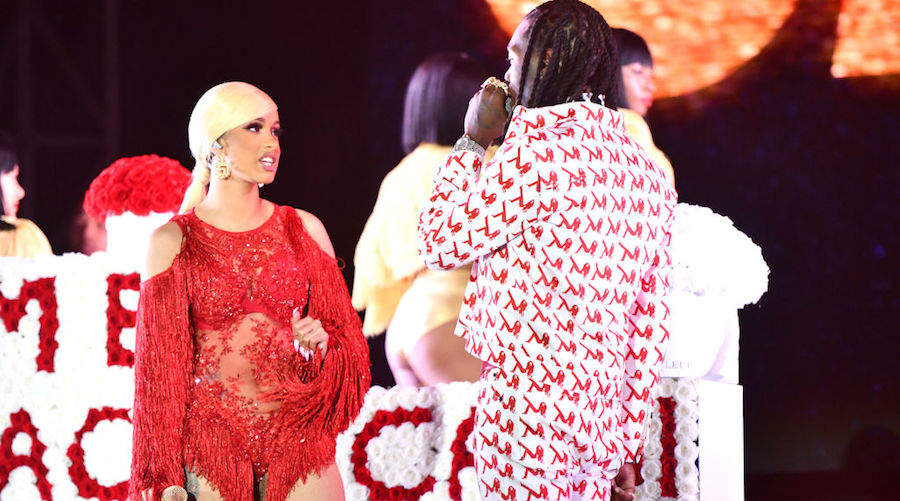 Cardi B and Offset at Rolling Loud