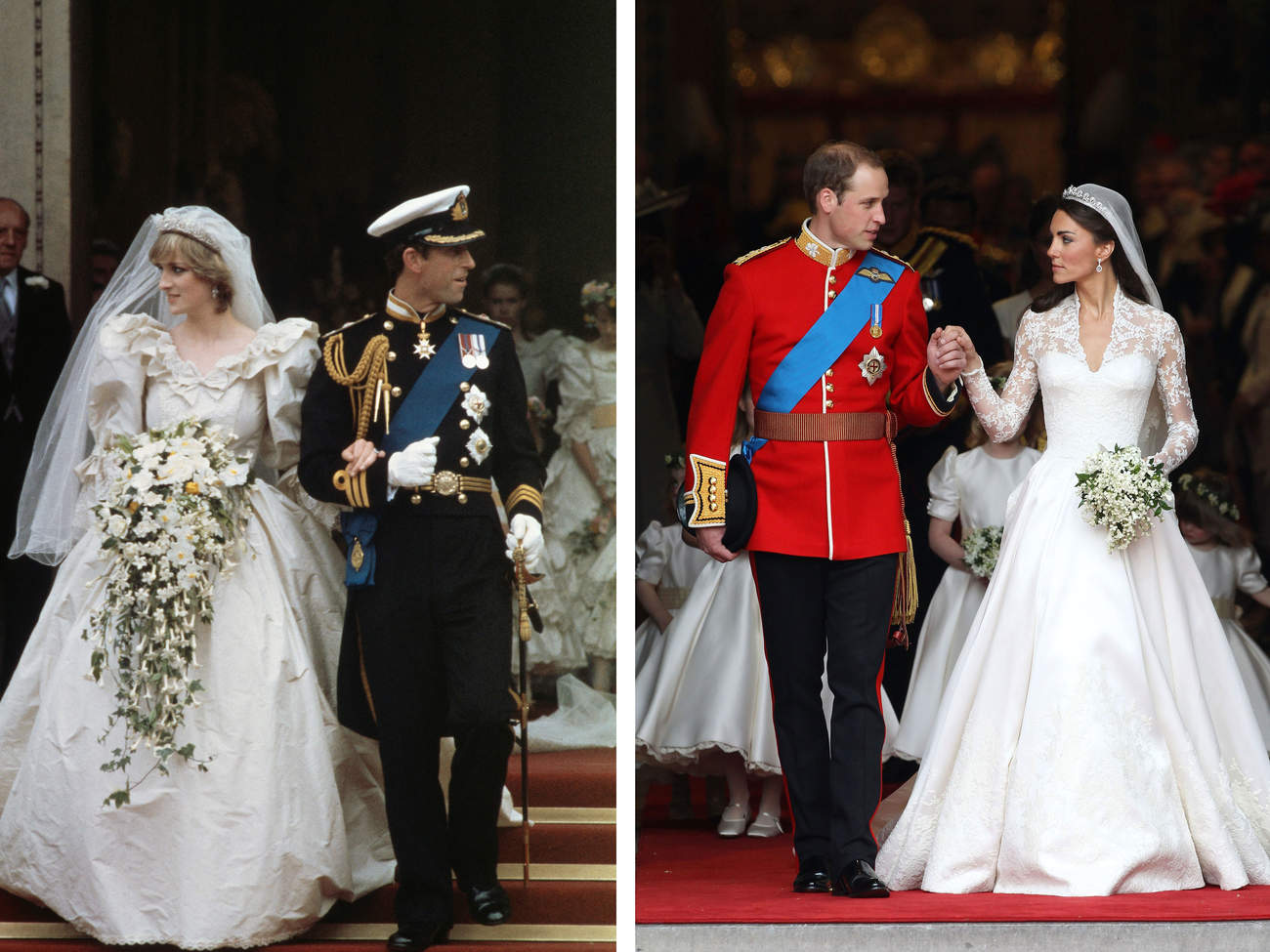 Side by Side of Royal Weddings