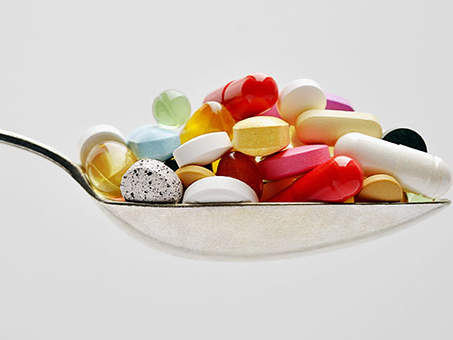 spoonful of dietary supplements