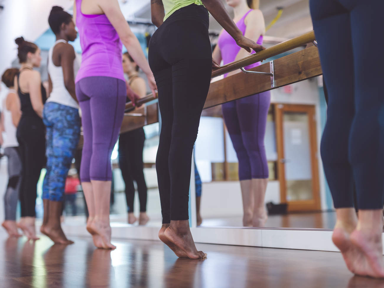 barre fitness class workout pilates exercise group