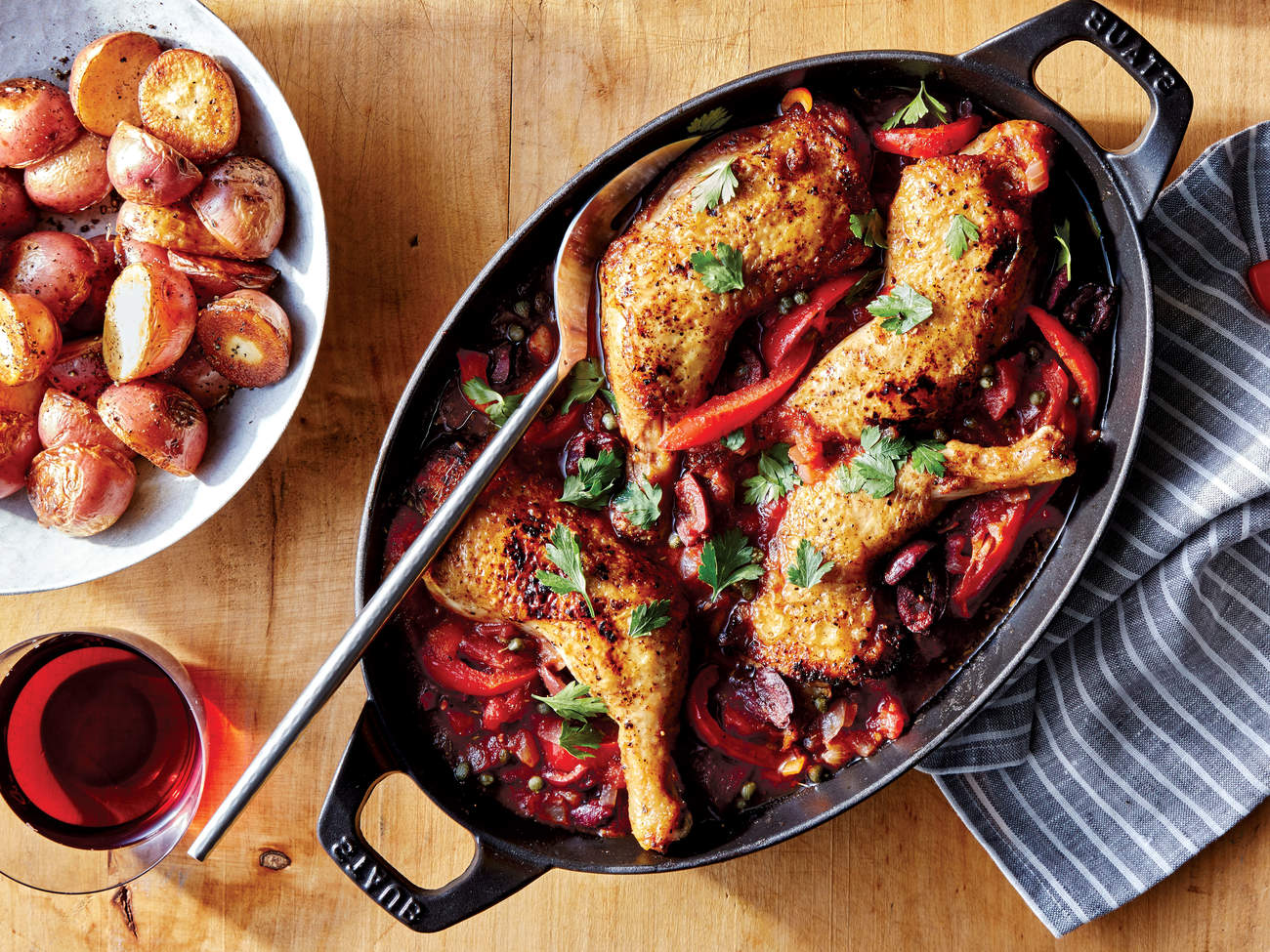 braised-chicken-peppers-tomatoes-olives-recipe