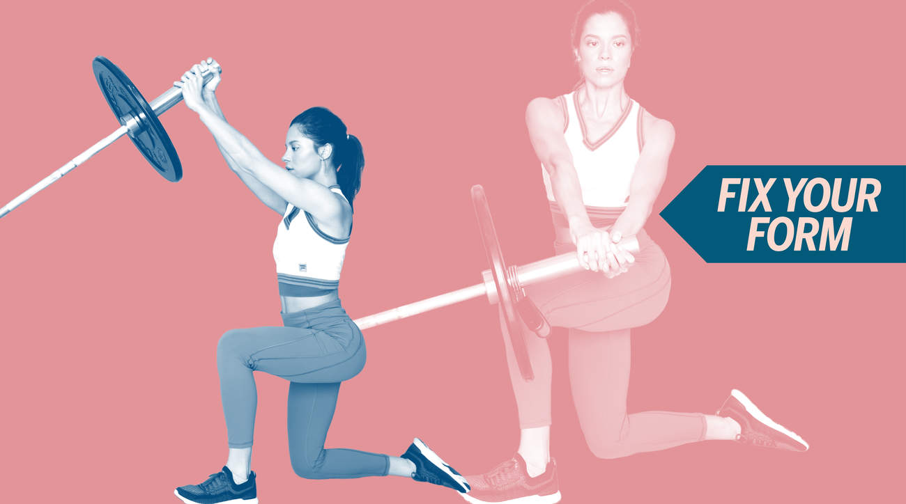 video exercise barbell woman health fitness weight weight-lifting strength