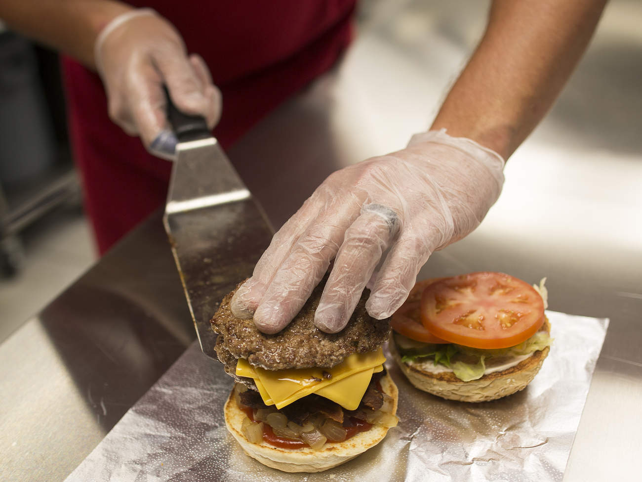 Five Guys Burger Chain hamburger cheeseburger healthy nutrition calories