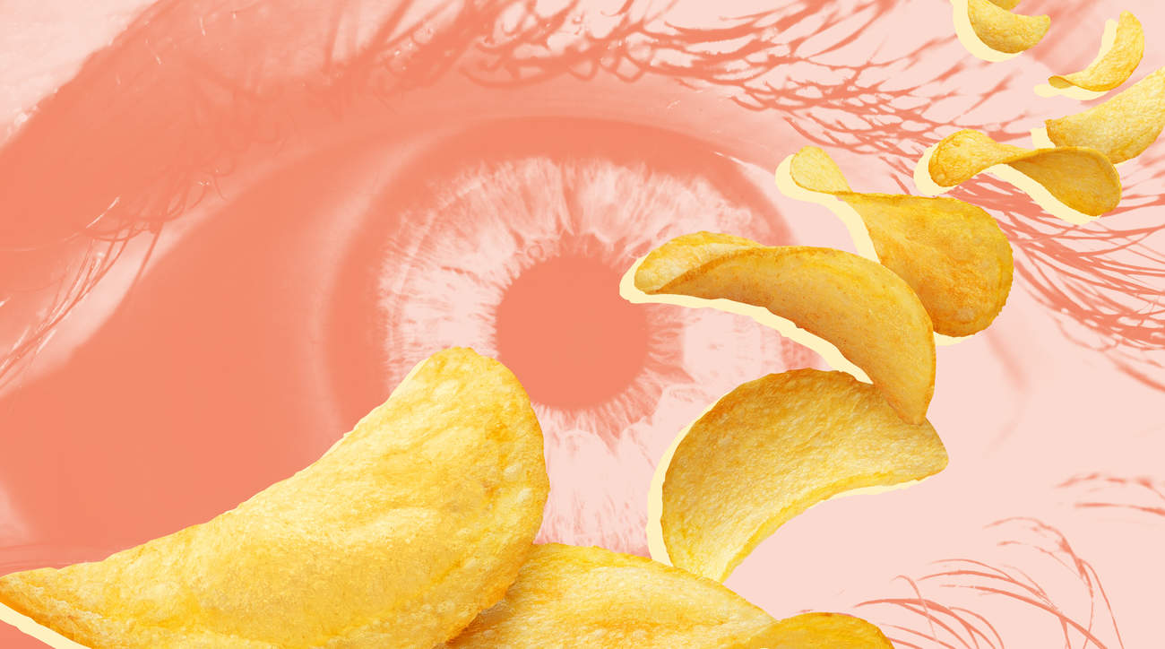 eye-pringles chips crisps eye health teenager vitamin-deficiency vitamins optic-nerve eye