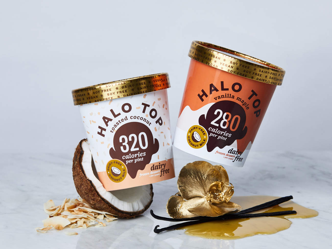 Halo-top-two-new-flavors