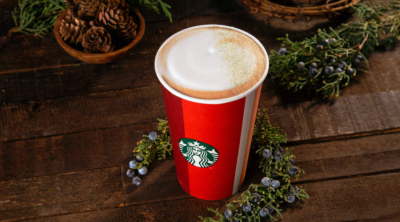 Starbucks holiday 2018 juniper latte nutrition ingredients