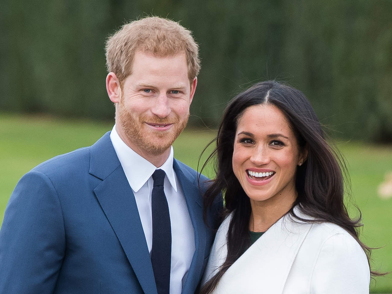 prince harry and meghan markle happy engagement