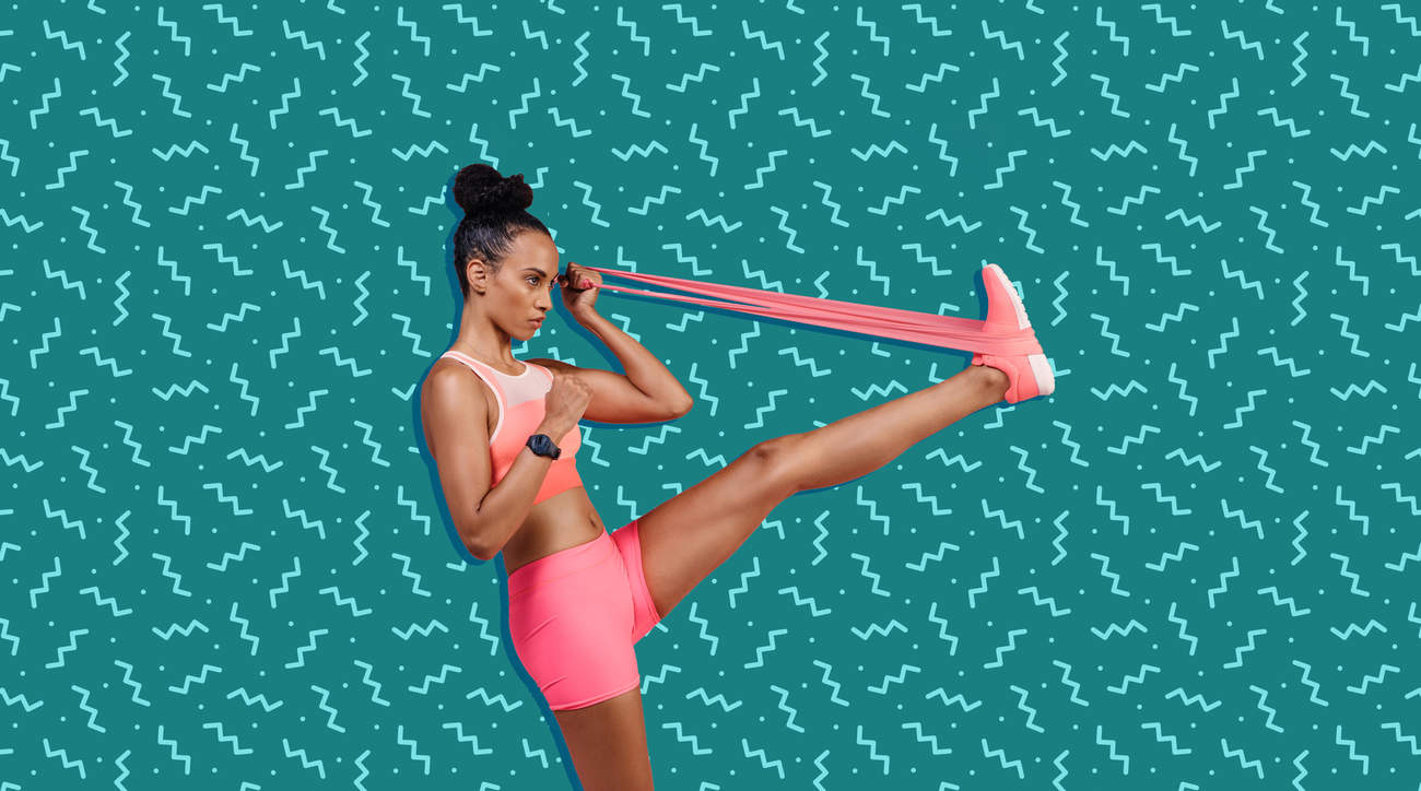 resistance bands 2019 exercise pink stretch elastic