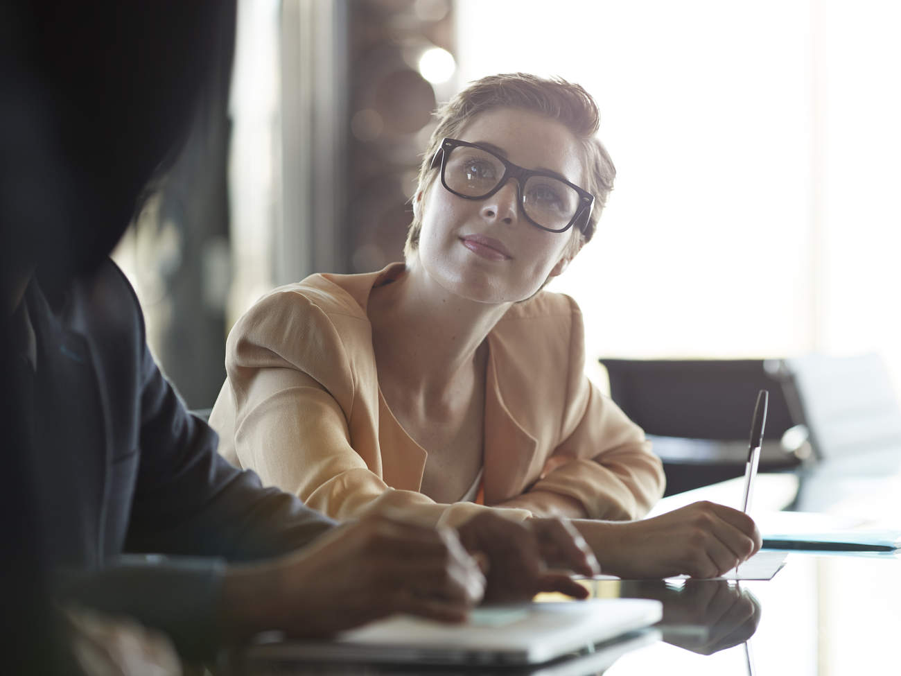 woman work workplace boardroom office career professional