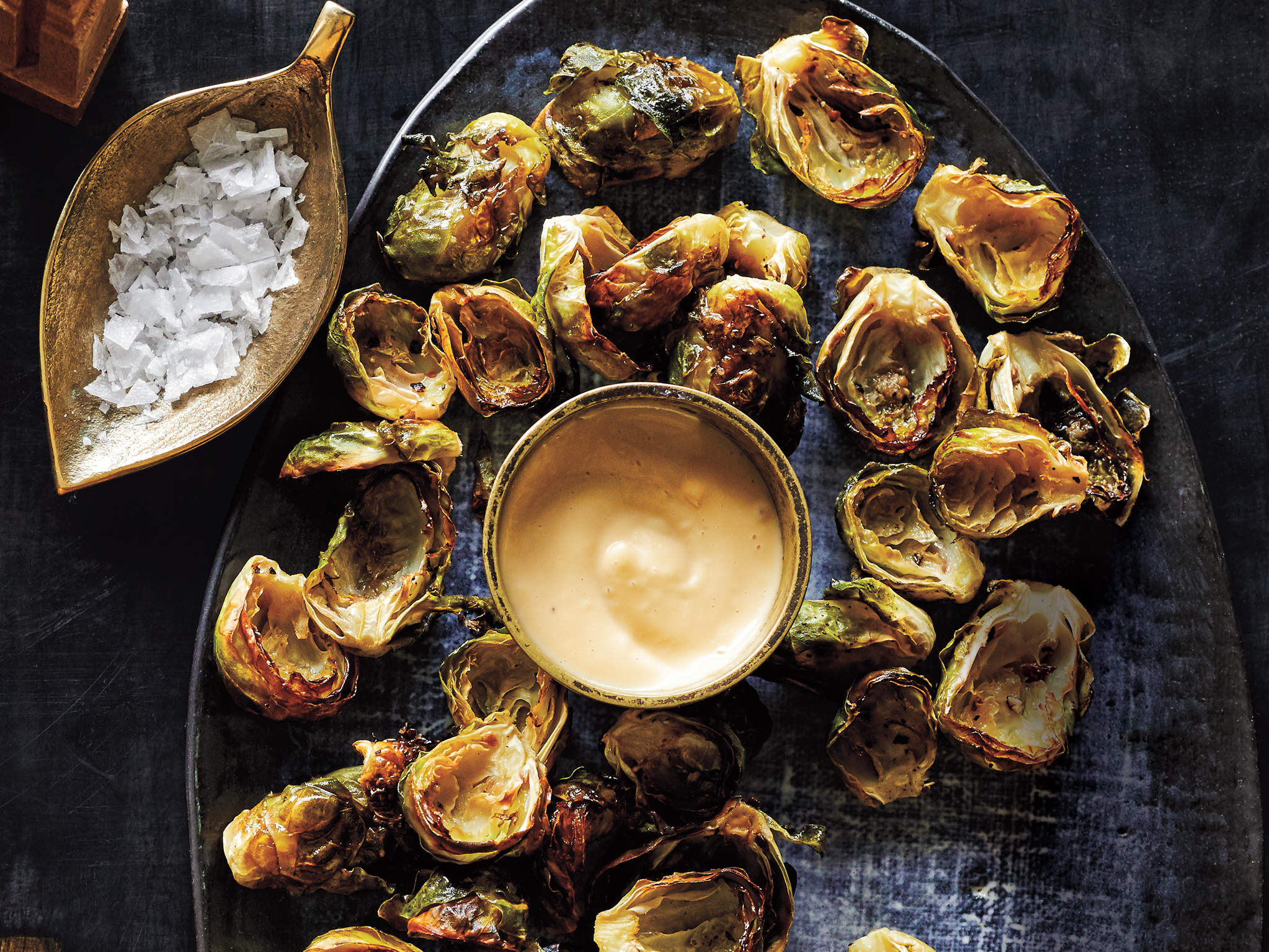 crispy-brussels-sprouts-miso-dressing-psa-protecter-gamble-mom-olympics