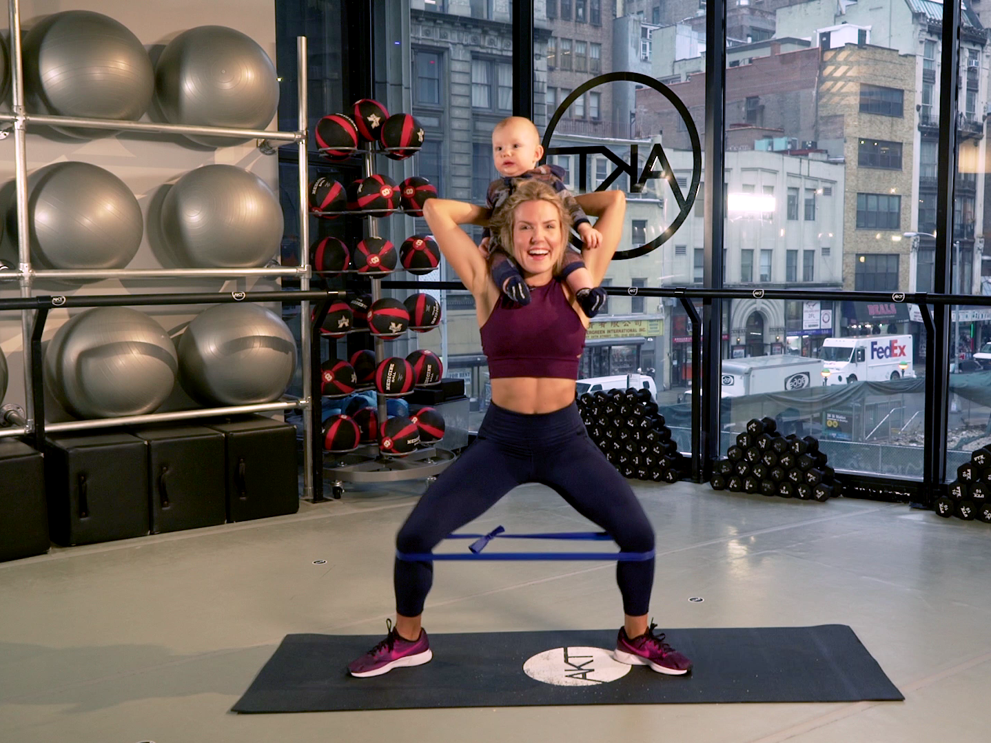 Anna Kaiser Shows Us How to Work Out With a Baby-video
