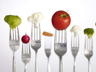 veggies-on-forks