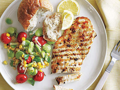 Grilled Chicken Summer Succotash
