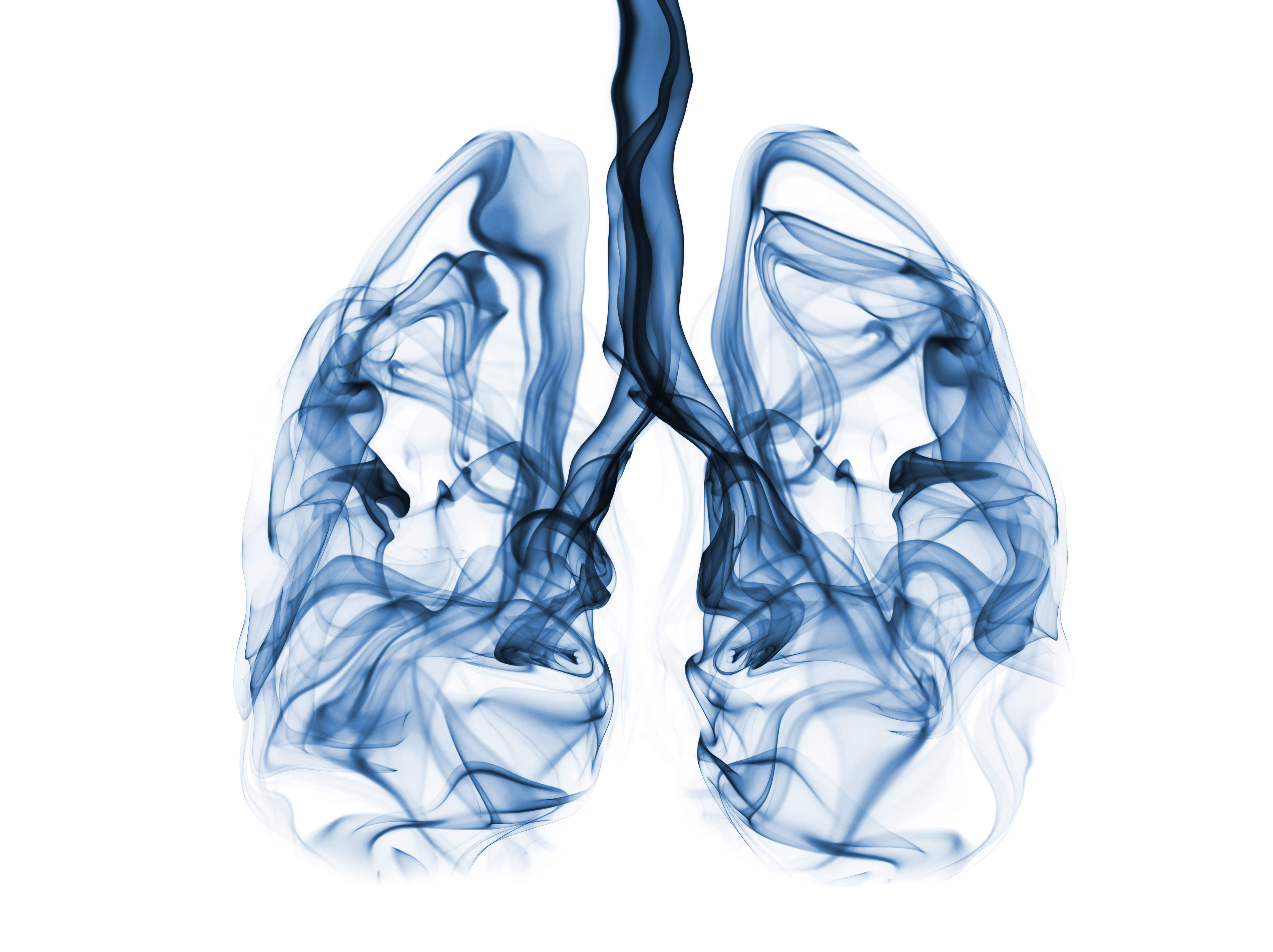 Fumes pollution chemicals filling up lung shape