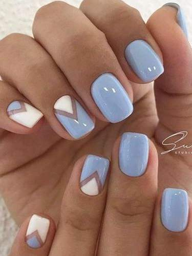 Nail Designs In Black And Blue