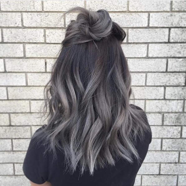 Fun Hair Color Ideas For Brunettes Best Images On Colors Colourful Grey