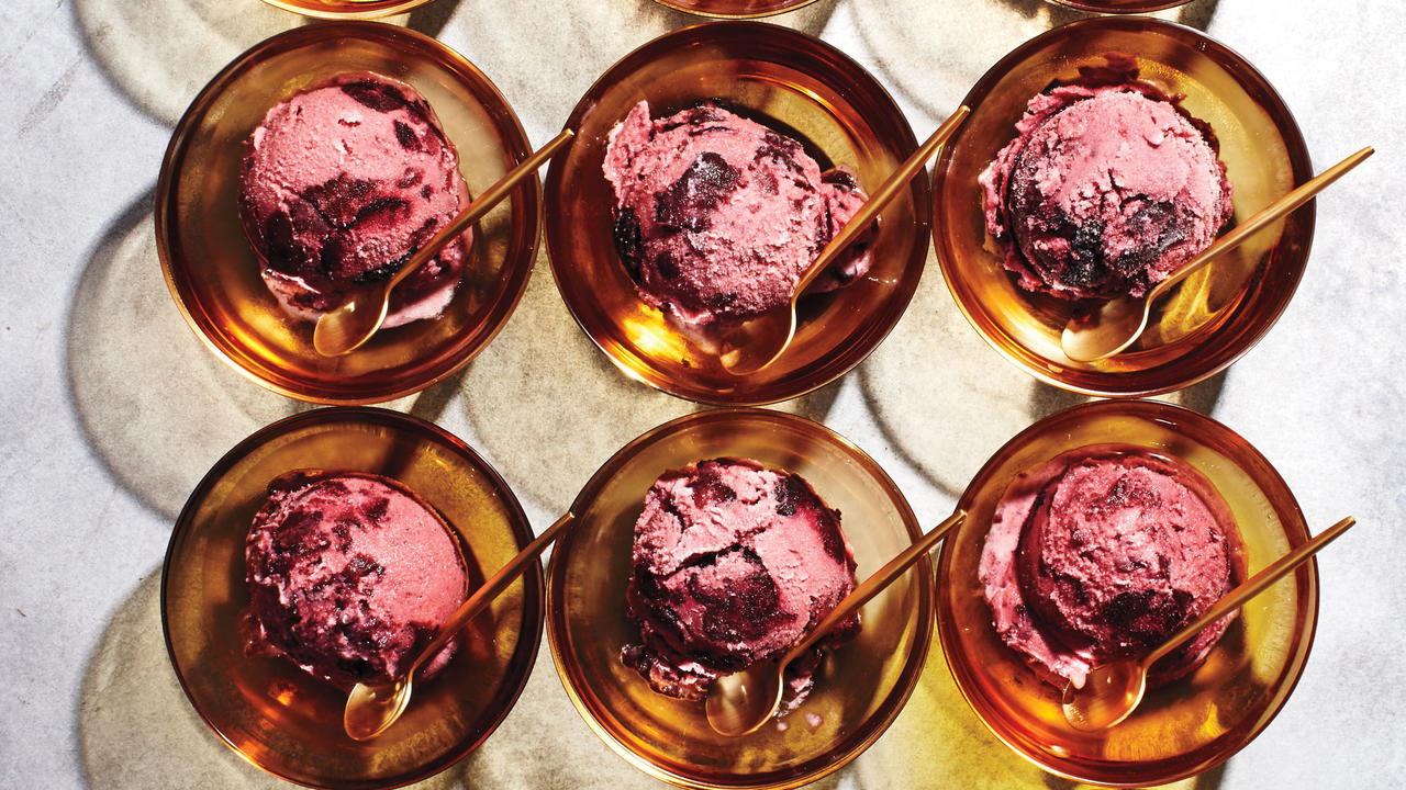 Cherry-Vanilla Buttermilk Ice Cream