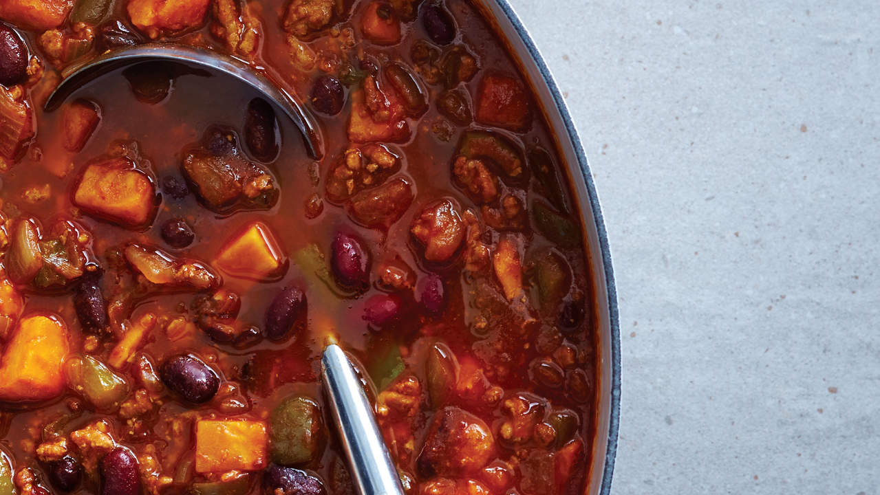 Smoky Turkey and Sweet Potato Chili