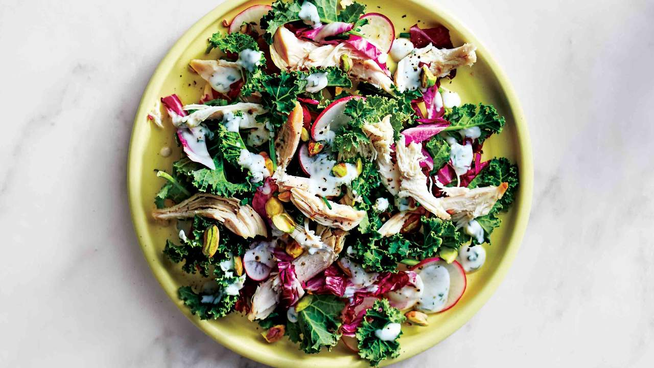 <p>Chicken-and-Kale Salad With Herbed Buttermilk Dressing</p>