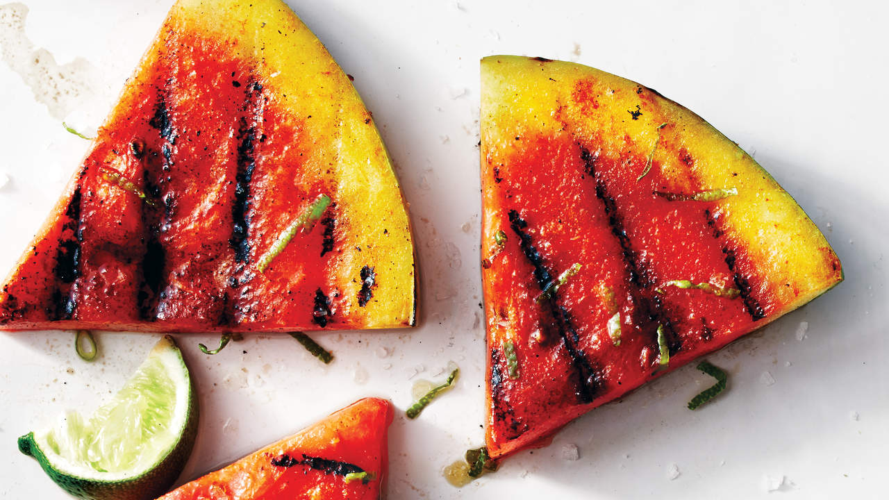Sriracha-Lime Grilled Watermelon