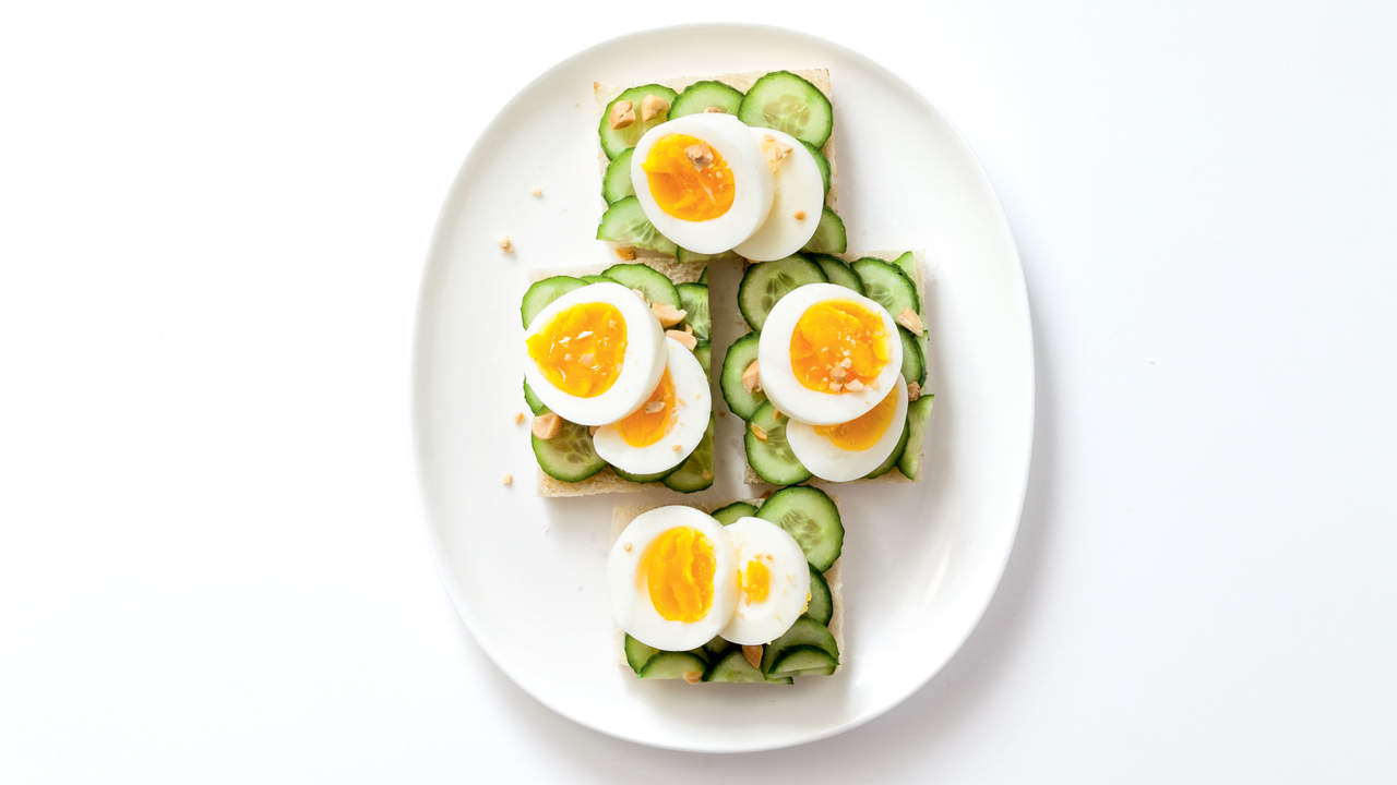 Thai Cucumber Open Sandwiches